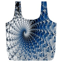 Mandelbrot Fractal Abstract Ice Full Print Recycle Bags (l)