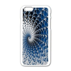 Mandelbrot Fractal Abstract Ice Apple Iphone 6/6s White Enamel Case by Nexatart