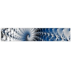 Mandelbrot Fractal Abstract Ice Large Flano Scarf