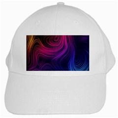 Abstract Pattern Art Wallpaper White Cap