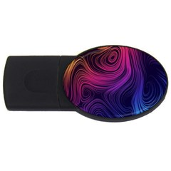 Abstract Pattern Art Wallpaper Usb Flash Drive Oval (2 Gb)