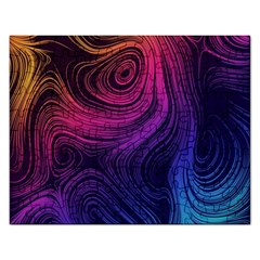 Abstract Pattern Art Wallpaper Rectangular Jigsaw Puzzl