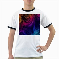Abstract Pattern Art Wallpaper Ringer T Shirts