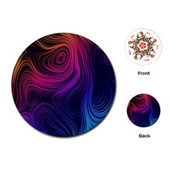 Abstract Pattern Art Wallpaper Playing Cards (round)