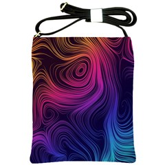 Abstract Pattern Art Wallpaper Shoulder Sling Bags by Nexatart