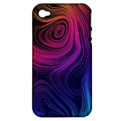 Abstract Pattern Art Wallpaper Apple Iphone 4/4s Hardshell Case (pc+silicone)