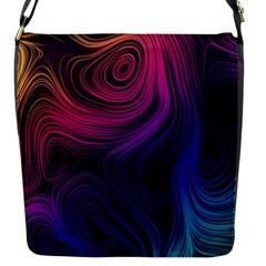 Abstract Pattern Art Wallpaper Flap Messenger Bag (s)