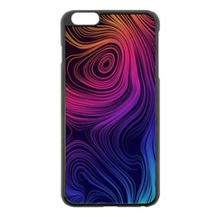 Abstract Pattern Art Wallpaper Apple Iphone 6 Plus/6s Plus Black Enamel Case