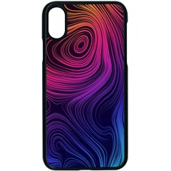 Abstract Pattern Art Wallpaper Apple Iphone X Seamless Case (black)