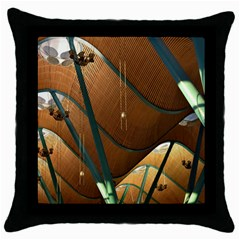 Airport Pattern Shape Abstract Throw Pillow Case (black)