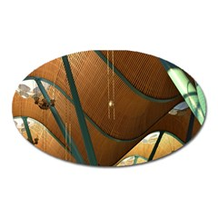 Airport Pattern Shape Abstract Oval Magnet