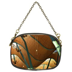 Airport Pattern Shape Abstract Chain Purses (two Sides)