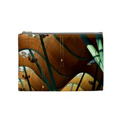 Airport Pattern Shape Abstract Cosmetic Bag (medium)