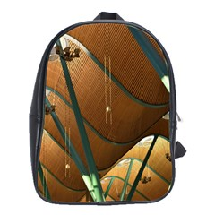 Airport Pattern Shape Abstract School Bag (large)