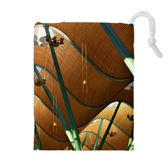 Airport Pattern Shape Abstract Drawstring Pouches (extra Large)