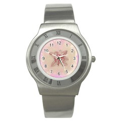 Desktop Background Abstract Stainless Steel Watch
