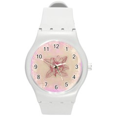 Desktop Background Abstract Round Plastic Sport Watch (m)