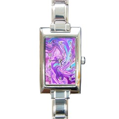 Abstract Art Texture Form Pattern Rectangle Italian Charm Watch