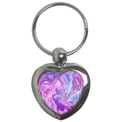 Abstract Art Texture Form Pattern Key Chains (heart)
