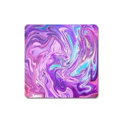 Abstract Art Texture Form Pattern Square Magnet