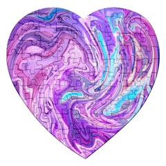 Abstract Art Texture Form Pattern Jigsaw Puzzle (heart)