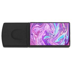 Abstract Art Texture Form Pattern Rectangular Usb Flash Drive