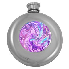 Abstract Art Texture Form Pattern Round Hip Flask (5 Oz)