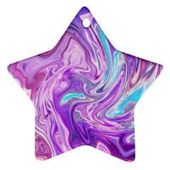 Abstract Art Texture Form Pattern Star Ornament (two Sides)