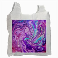 Abstract Art Texture Form Pattern Recycle Bag (two Side)