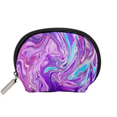 Abstract Art Texture Form Pattern Accessory Pouches (small)  by Nexatart