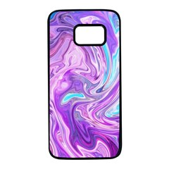 Abstract Art Texture Form Pattern Samsung Galaxy S7 Black Seamless Case