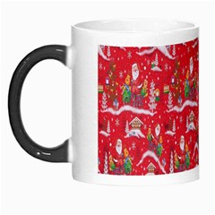 Red Background Christmas Morph Mugs