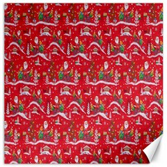 Red Background Christmas Canvas 16  X 16