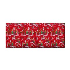Red Background Christmas Cosmetic Storage Cases