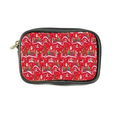 Red Background Christmas Coin Purse