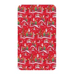Red Background Christmas Memory Card Reader