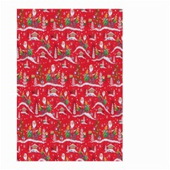 Red Background Christmas Small Garden Flag (two Sides)