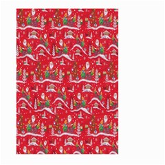 Red Background Christmas Large Garden Flag (two Sides) by Nexatart