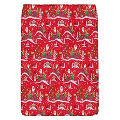 Red Background Christmas Flap Covers (l)