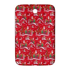 Red Background Christmas Samsung Galaxy Note 8 0 N5100 Hardshell Case