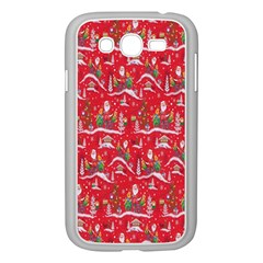 Red Background Christmas Samsung Galaxy Grand Duos I9082 Case (white)