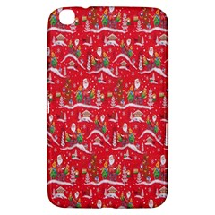 Red Background Christmas Samsung Galaxy Tab 3 (8 ) T3100 Hardshell Case