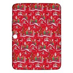 Red Background Christmas Samsung Galaxy Tab 3 (10 1 ) P5200 Hardshell Case