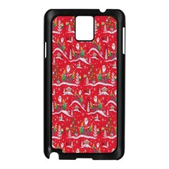 Red Background Christmas Samsung Galaxy Note 3 N9005 Case (black)