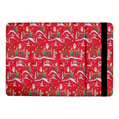 Red Background Christmas Samsung Galaxy Tab Pro 10 1  Flip Case