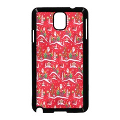 Red Background Christmas Samsung Galaxy Note 3 Neo Hardshell Case (black)