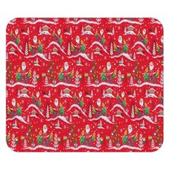 Red Background Christmas Double Sided Flano Blanket (small)