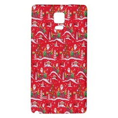 Red Background Christmas Galaxy Note 4 Back Case