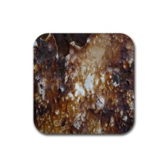 Rusty Texture Pattern Daniel Rubber Square Coaster (4 Pack)