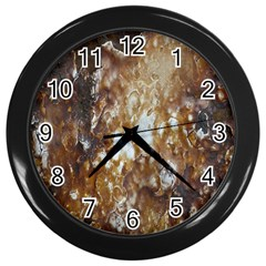 Rusty Texture Pattern Daniel Wall Clocks (black)